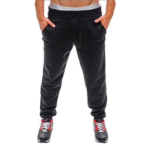 Casual Baggy Sport Pantalons 1 De Homme Pantalon Elastique Jogging Polyester Drawstring Sweatpants Course Noir Entraînement Respirant Gym Fitness xXw1XIqg