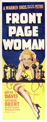 Front Page Woman POSTER Movie (14 x 36 Inches - 36cm x 92cm) (1935) (Insert Style - Karn Walker