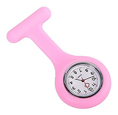 COCOTINA Gel Silicone Nurses Fob Watch Pocket Pin on Tunic Brooch Washable Nurse (Pink)