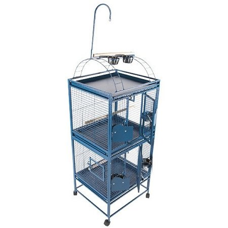 Small Double Stack Bird Cage Color: Platinum