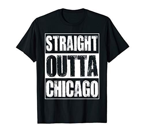 Vintage Straight Outta Chicago Illinois Gift T-Shirt