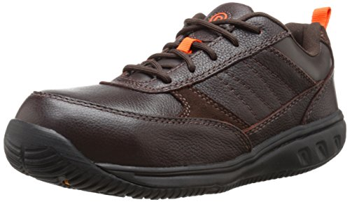 Rockport Work Men's Nice Ride RK6150 Work Shoe, Brown, 11.5 M US (Dissipative Toe Slip Electrostatic)