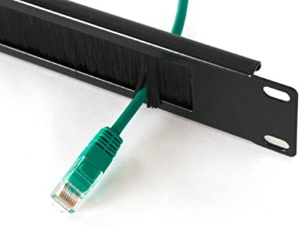 CABLE NOT INCLUDED 1U BRUSH PANEL