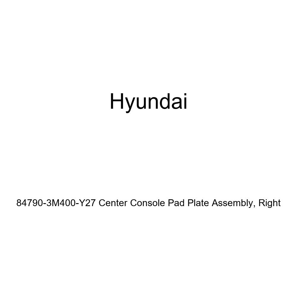 Right Genuine Hyundai 84790-3M400-Y27 Center Console Pad Plate Assembly