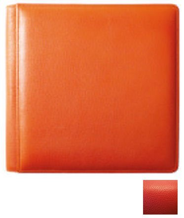 RODEO RED fine-grain leather #105F album with back/front pages by Raika - 8x10 by Raika®