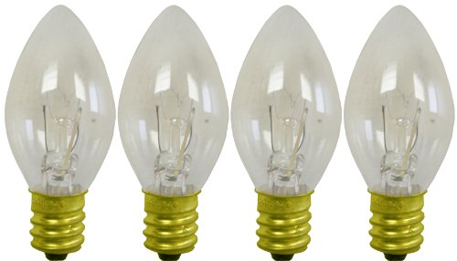 C-7 clear transparent replacement bulbs for twinkle or blinking lights -