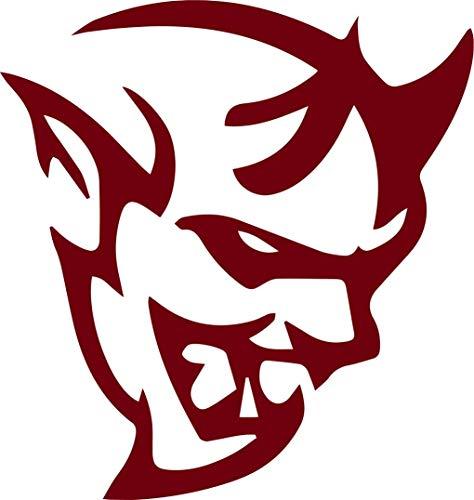 (Dodge SRT Demon Logo Stickers Symbol 5.5