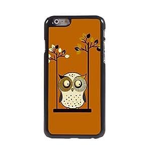 WQQ Swinging Owl Pattern Aluminum Hard Case for iPhone 6
