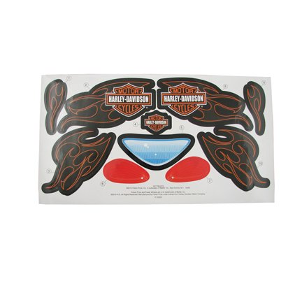 Mattel Stickers - Fisher-Price Harley - Davidson Motor Cycles Tough Trike - Replacement Stickers