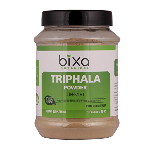 Triphala Powder – 1 pound / 16 Oz (Haritaki, Bibhitaki & Amalaki) – Natural Anti-Oxidant | Ayurvedic herbal supplement for Blood purifier, Strengthening the hair roots, healthy digestion & absorption Review