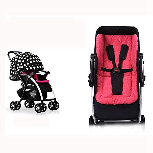 Ambiguity Sillas de Paseo,Carretilla de suspensión Alta Vista Infantil Puede Estar acostado bebé Coche Reversible Plegable Silla de Paseo 66 * 54 * 101 cm: ...