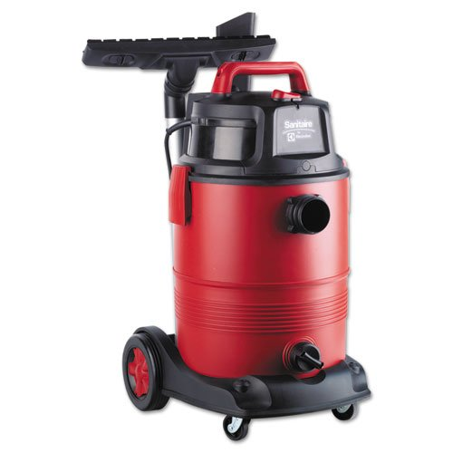 Electrolux Sanitaire Commercial Wet Dry Vacuum, 11.5A, 8gal, 12lb, Red