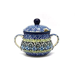 Polish Pottery Sugar Bowl – Tranquility