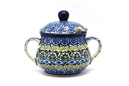 Polish Pottery Sugar Bowl - Tranquility