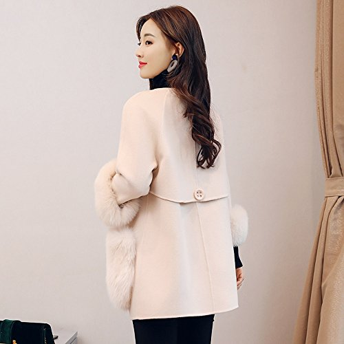collar cardigan and winter QFFL big jacket Ladies V jacket Fall optional Size sleeves AwzfqZz