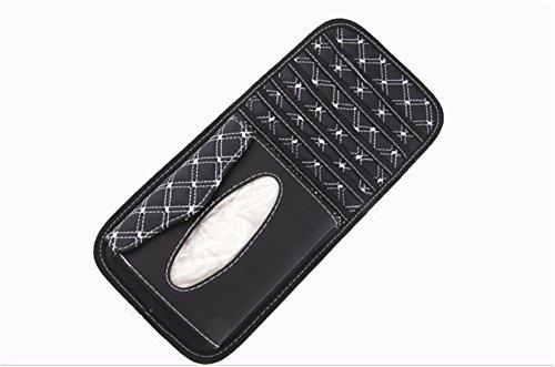 Andy Baby Auto Accessories Car Sun Visor Car Tissue Box Cover Holder Paper Napkin Clip White&black