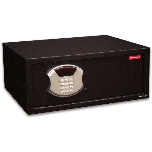 Honeywell Safes & Door Locks - 5105DS Low Profile Steel Security Safe with Hotel-Style Digital Lock, 1.14 -Cubic Feet, Black