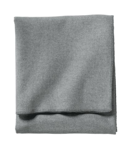 Heather Blanket (Pendleton - Eco-Wise Washable Wool Blanket, Grey Heather, Queen)
