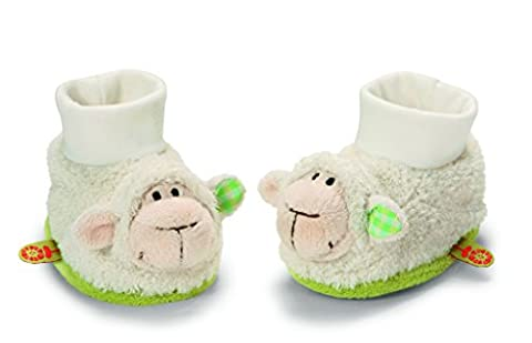 Neat-Oh My First Nici Baby Booties Lamb with Rattle Plush (Booties With Rattles)