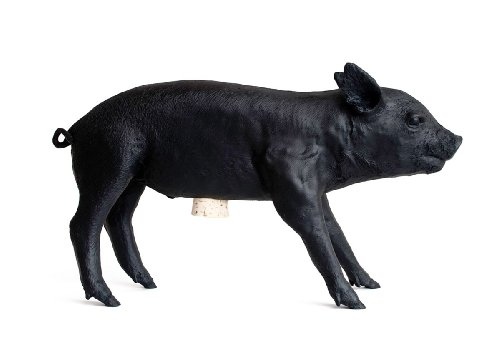 Areaware Bank in The Form of a Pig, Matte Black by Areaware