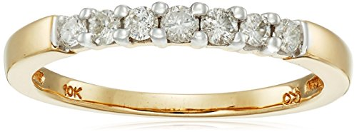 10k Gold Round Cut 7 Stone Ring (3/4 cttw, H I Color, I2 I3 Clarity)