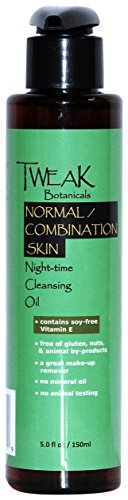 Cleansing Oil Face Wash, Natural & Organic, Makeup Remover Oil, Normal, Combination, Sensitive Skin, 5 Oz, by TWEAK Botanicals