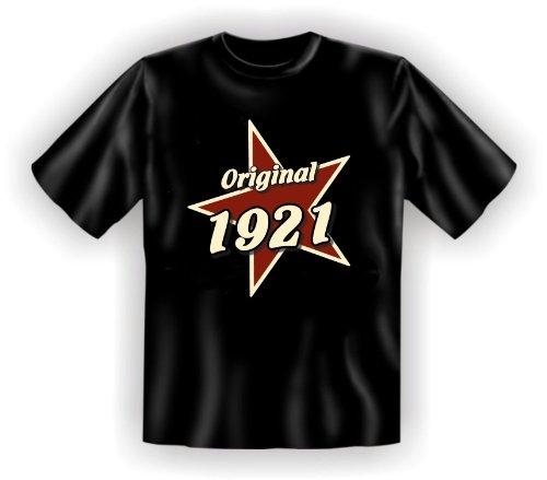 T-Shirt als lustiges Geschenk zum 94. Geburtstag für Jahrgang 1921 - Geburtstagsgeschenk mit Humor! Farbe: schwarz