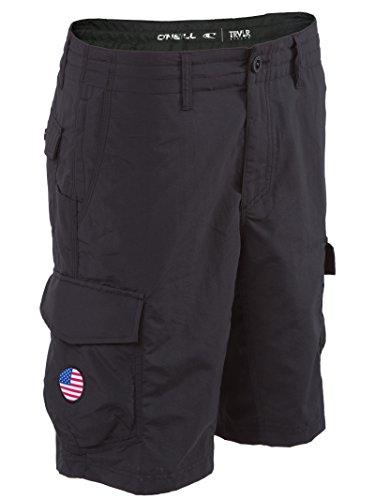 O'Neill GI Jack Traveler Hybrid Boardshorts 48 Solid Black ()