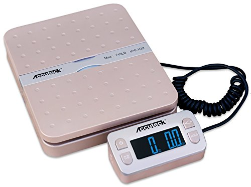 Accuteck ShipPro W-8580 110lbs x 0.1 oz Gold Digital shipping postal scale, Limited Edition (W-8580-110 Gold)