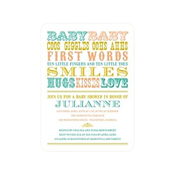 words for baby shower invitation