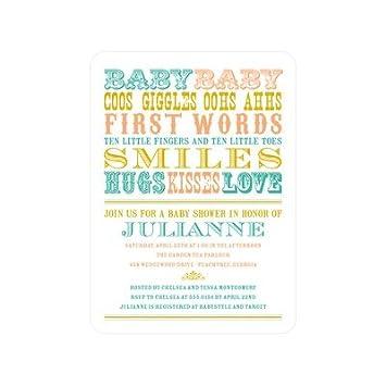 amazon com baby shower invitations baby words bay baby shower