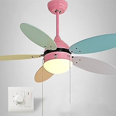 Liuyu · Ventilador de Techo Ventilador para niños Ventilador de Techo Dormitorio con hogar Color Led Macarons Araña de Ventilador Motor Aseguramiento de la Calidad ...