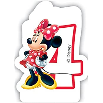 Amazon.com: Minnie mouse número 4 con forma de vela para ...