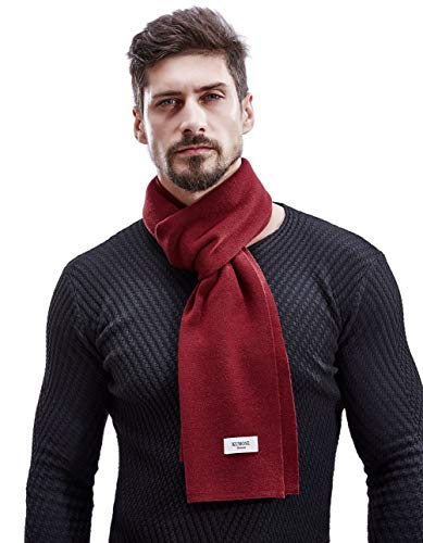 Elegant Gift KUMONE Men Winter Cashmere Scarf Wool Scarves