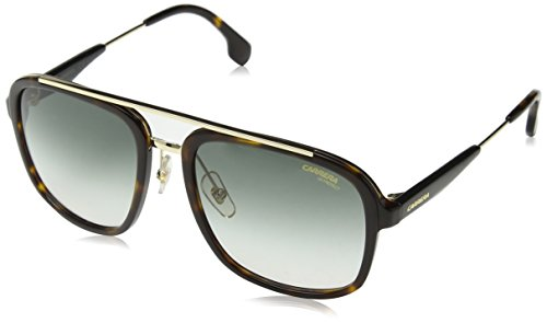 Carrera Men's Ca133s Aviator Sunglasses, Havana Gold/Gray Green, 57 - Aviator Shades Carrera