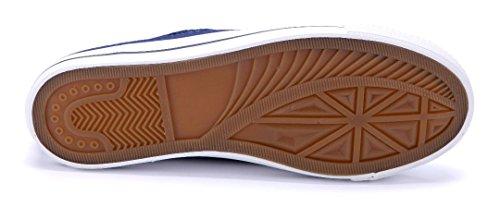 Schuhtempel24 Damen Schuhe Low Sneaker Flach Pailetten Blau