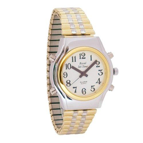 (Mens Spanish Royal Tel-Time Bi-Color Talking Watch- Expansion)