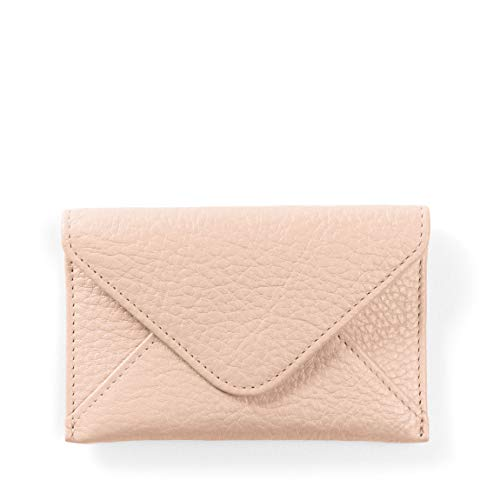 Envelope Card Case - Full Grain Leather Leather - Rose (Pink) ()