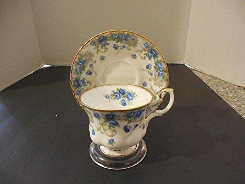 Bronze Teacup (Vintage Golden Crown Bone China Teacup Saucer Sheraton Blue Roses)