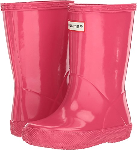 Hunter Boots Infant's First Classic Gloss Rain Boot Bright PNK 12 M US (Hunter Wellies Kids)