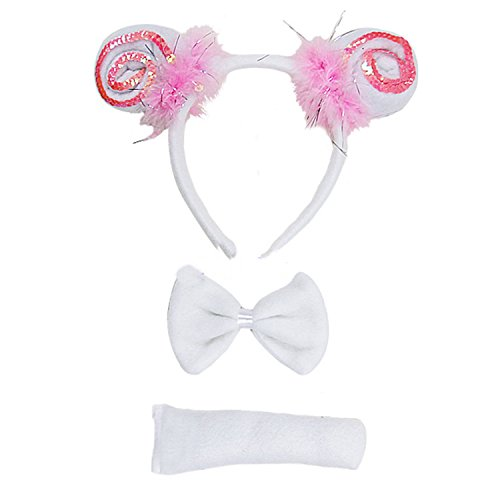 Kirei Sui Kids Sheep Headband Tie Tail 3pcs Costume]()