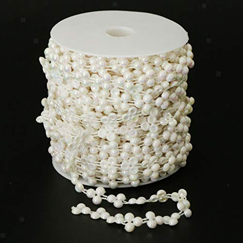Artificial Beads String Garland DIY Craft Wedding Party Table Decor 15m |Color - Beige|
