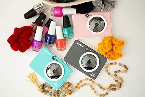 Canon IVY CLIQ 2 Instant Camera Printer, Mini Photo Printer, Turquoise (Matte)