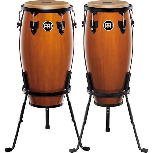 Headliner Series 11 and 12 Inch Wood Conga Set with Basket Stands ()
