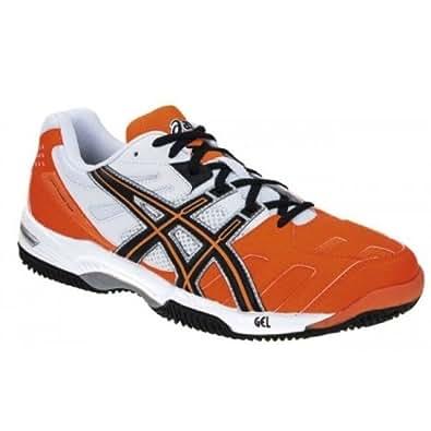 ASICS Gel-Padel Top SG - Zapatillas para hombre, color naranja/negro/blanco, talla 41.5