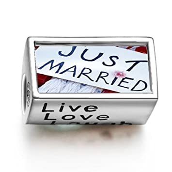 Amazon.com: 1001love Just Married Cartel palabras Live Love ...