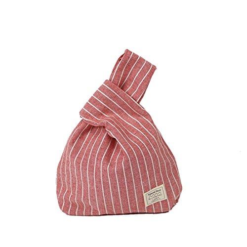 femme dames Rouge sac main bande Poignet Simple pour japonais à mode sac cabine poignet sac Dunland sac atwqndd