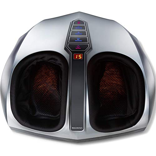Shiatsu Foot Massager Machine with Heat - Belmint Electric Feet Massager Machine with Multi Settings - Delivers Deep Kneading Massage Relief for Tired Muscles and Plantar Fasciitis