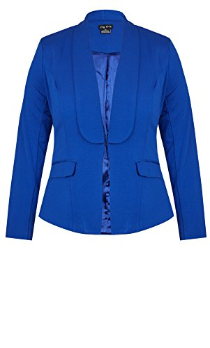 Designer Plus Size JKT FRESH PONTE - Cornflower - 24 / XXL | City Chic