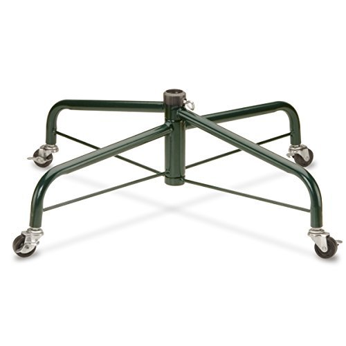National Tree 32 Inch Folding Tree Stand with Rolling Wheels for 9 to 10 Foot Trees, Fits 1.25-Inch Pole (FTS-32R-1)